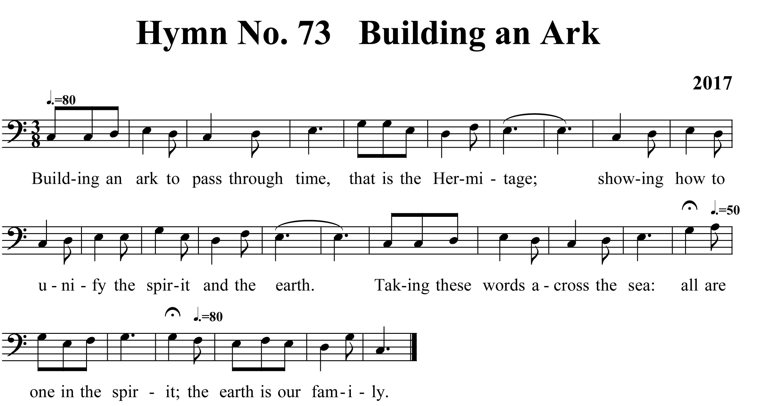 Hymn No 73 Building an ark copy